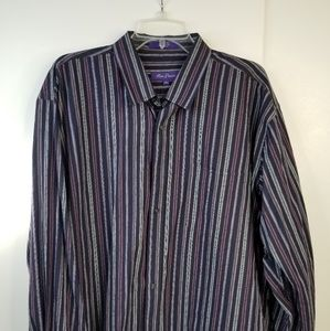 Alan Flusser Long Sleeve Multi-Colored Striped XXL